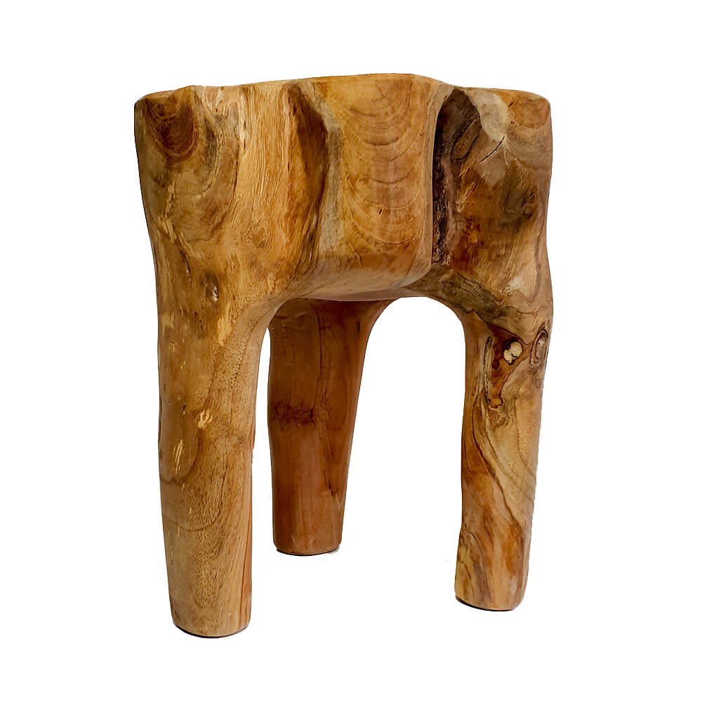 Awesome Solid Teak Root Stool 004 Dailytribune Chair Design For Home Dailytribuneorg